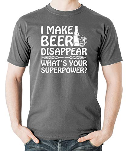 d80b20123 Witty Fashions I Make Beer Disappear What's Your Superpower Funny Men's T- Shirt (Medium