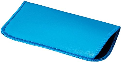 Shop561 Soft Eyeglass Case Aqua Blue