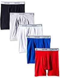 Boys' Boxer Brief, Exposed and Covered Waistband (Pack of 5)