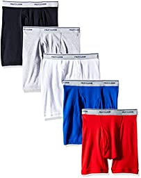 Fruit of the Loom Boys\' 5 Pack Assorted Boxer Brief, Multicolor, M (10-12)