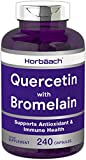 Horbaach Quercetin with Bromelain 500mg 240 Capsules | Non-GMO and Gluten Free Supplement