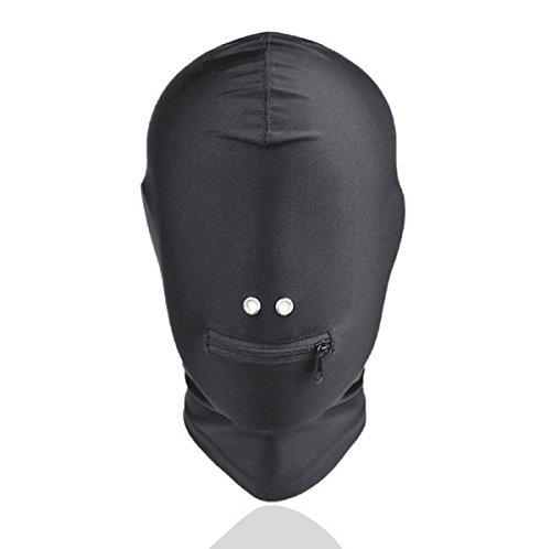 KODORIA Breathable Face Cover Spandex Zentai Cosplay Costume Hood Mask - Black ()