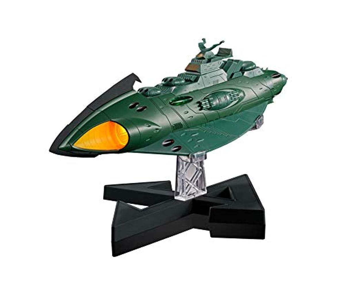 [해외] 초합성피혁금 혼 GX-89 우주 전함 야마토2202 가미러스 항주기갑함 전장 약240MM 다이캐스트&ABS제 도장필 가동 피규어