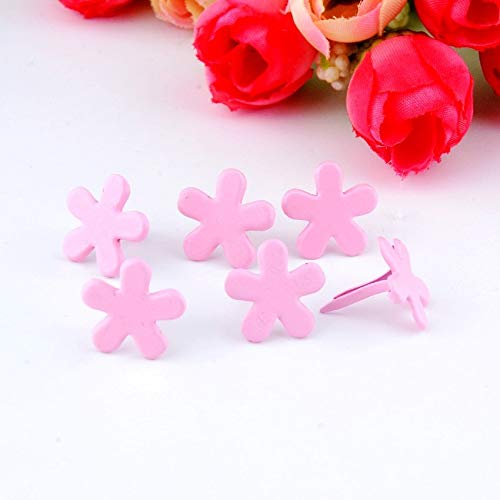 Garment Rivet - -50PCs Pink Pastel Round Brads Scrapbooking Embellishment Holiday Decoration & Gift 14x14mm F0728