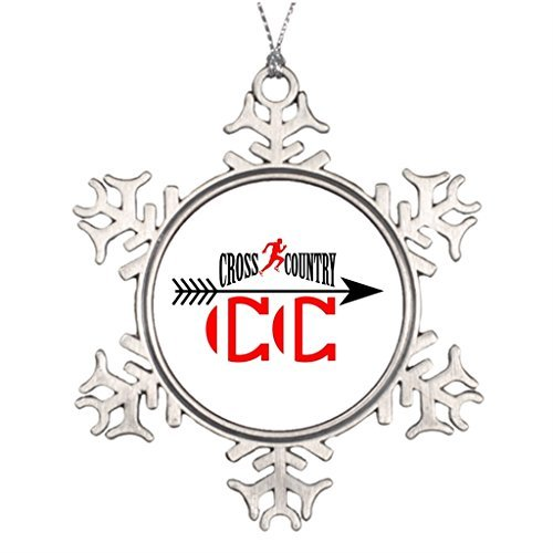 Metal Ornaments Best Friend Snowflake Ornaments Cross Country Blank One size ()