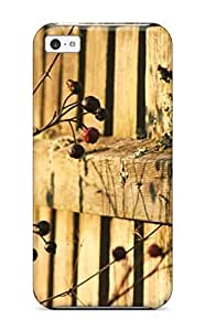 Anti-scratch And Shatterproof Rose Hip Near A Wooden Fence Phone Case For Iphone 5c/ High Quality Tpu Case by supermalls