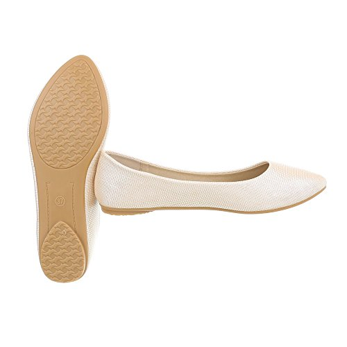 Classiques Ballerines Design Femme Ballerines Chaussures Ital Plat naRU7YXX