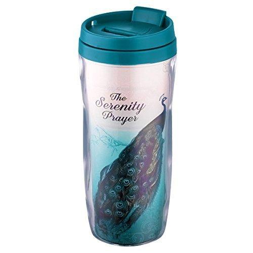 Serenity Prayer (Peacock) Polymer Travel Mug