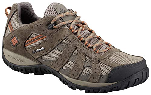 Columbia Men's Redmond Waterproof Hiking Shoe, Pebble, Dark Ginger, 10.5 D US