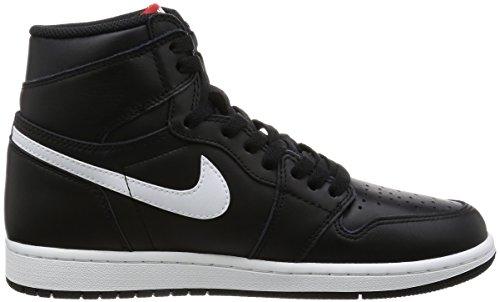 Nike Mens Air Jordan 1 Mid Scarpe Da Basket Nero / Bianco