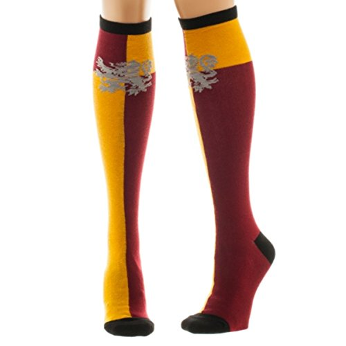 Harry Potter Hogwarts House Knee High Socks (Gryffindor) (Hogwarts Costumes For Women)