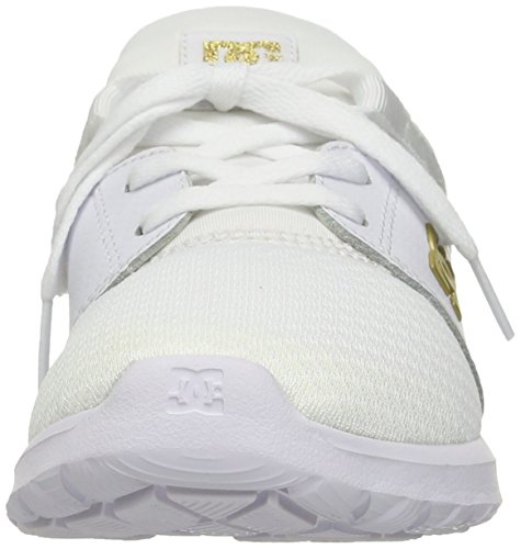 DC Heathrow da Uomo Casual Skate Shoe Weiß, vergoldet