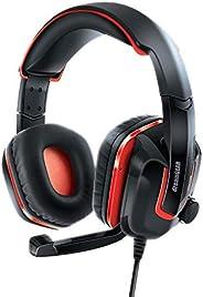 Fone de ouvido Headset Dreamgear GRX-440 com microfone e controle de volume DGSW-6510 Preto e vermelho
