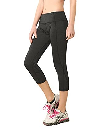 Amazon.com: Women's Capri Athletic Tights Crop Yoga Leggings ...
