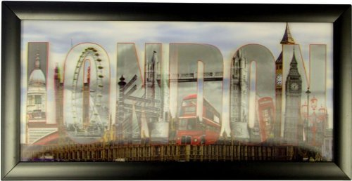 - Framed HD 3D Iconic Print 3 Dimensional picture of London Scenes, Ready to hang by OFA Products