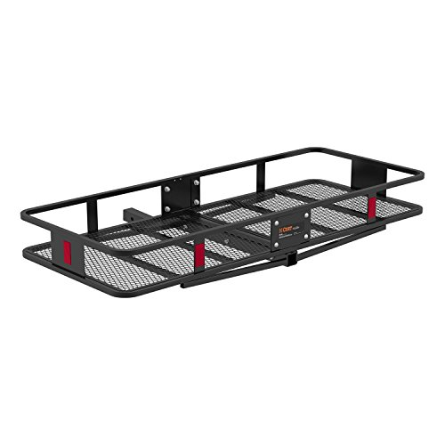 CURT 18152 Basket Trailer Hitch Cargo Carrier, 500 lbs. Capacity, 60-Inch x 24-Inch x 6-Inch, Fits 2-Inch Receiver ()
