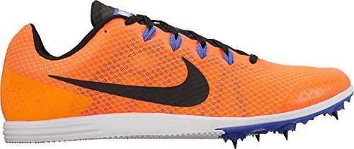 Nike Men's Zoom Rival D 9 Track and Field Shoes(Orange/Black, 9.5 D(M) US)