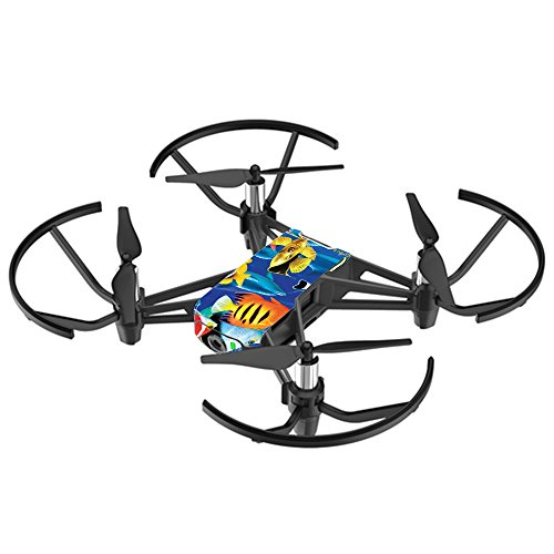 MightySkins Skin for DJI Ryze Tello Drone - Tropical Fish | Protective, Durable, and Unique Vinyl Decal wrap Cover | Easy to Apply, Remove, and Change Styles | Made in The USA