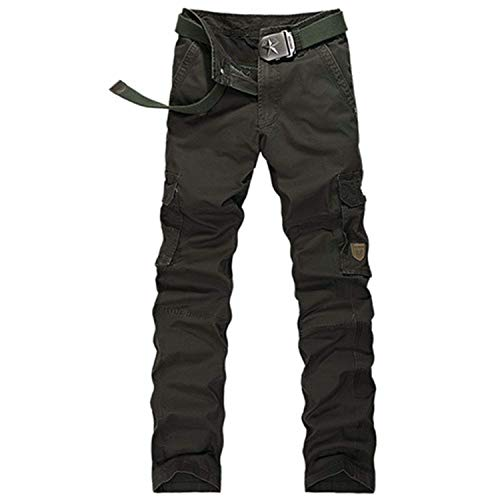 Fashion Style Fashion Men Cargo Pants Army Brown Black Big Pockets Decoration Casual Easy Wash Male Autumn Pants Size 30-40,38,ArmyGreen