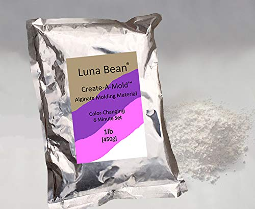 Luna Bean Create-A-Mold Craft Alginate Molding Powder for Life Casting (1 lb) -