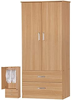 Comfy Living Bedroom Wardrobe Oak Effect Tallboy