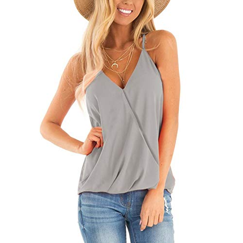 Women Cami Tops Camis Casual V-Neck Sleeveless Pullover Tank Top T Shirt Summer T-Shirts ()
