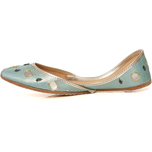 dca789b8ad6b7b Unze New Women Traditional  Cavansite  Handmade Leather Flat Indian ...