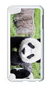 Ipod 5 Case,MOKSHOP Awesome Panda Baby Hard Case Protective Shell Cell Phone Cover For Ipod 5 - PC White