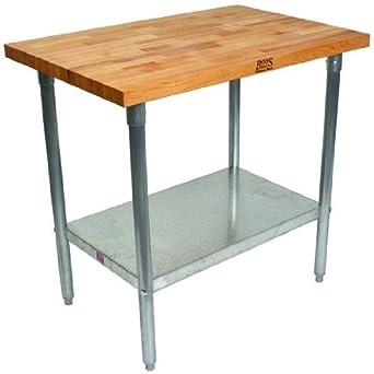 Amazoncom John Boos Maple Butcher Block Kitchen Work Table 84