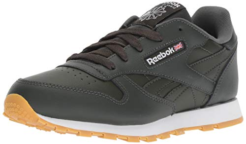 Reebok Unisex Classic Leather Sneaker, Gum-Dark Cypress/White, 2 M US Little Kid