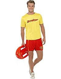Adult Fancy Party Dress Rescue Lifeguard Baywatch Men's Beach Costume Outfit
