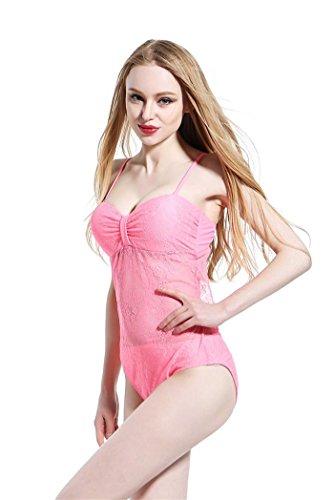 SHISHANG La Sra traje de baño del bikini del cordón del traje de baño de aguas termales Europa y la protección del medio ambiente Delgado alta elasticidad Estados Unidos powder