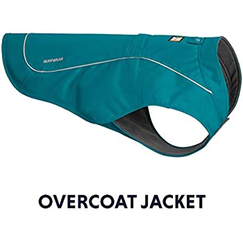 RUFFWEAR - Overcoat Fleece Lined Water Resistant Cold Weather Jacket for Dogs, Baja Blue, Small