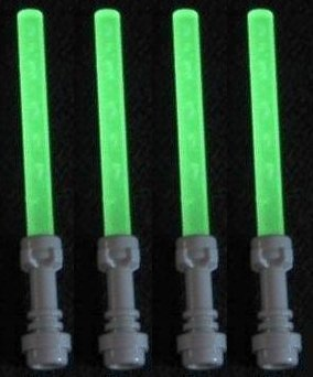 Lego Lightsaber Lot of 4: Glow-in-the-Dark Lightsabers with Hilts (Lego Halloween Costumes)