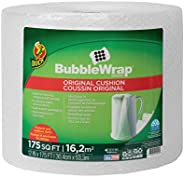 """Duck Brand Bubble Wrap Roll, Original Bubble Cushioning, 12"""" x 175', Perforated Every 12"""" (1"""