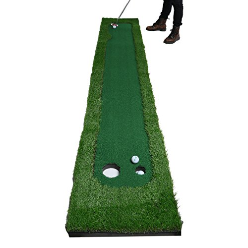 Golf Putting Mat,OUTAD Indoor Golf Training Mat Putting Green System Professional Golf Practice Mat Green Long Challenging Putter(1.6ftx10ft) by OUTAD (Image #5)
