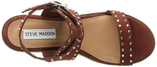 Steve Madden Women Gila Dress Sandal Ruggine Nabuk