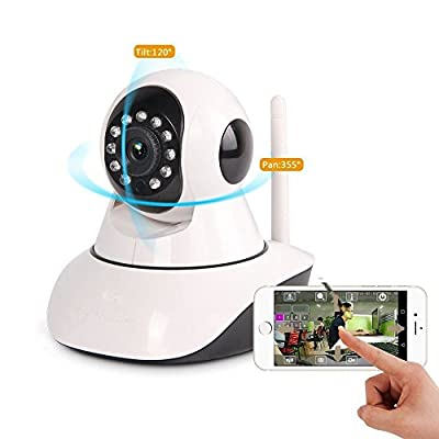 AlphaTec IP Camera, Security Camera, Baby Monitor 2 Way Video/Audio with Full Tilt with Multi stream View and Night Vision