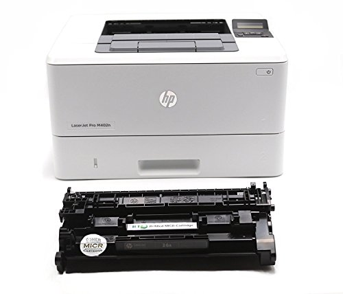 N MICR Check Printer Package: Laserjet M402N Printer and 1 RT CF226A 26A MICR Toner Cartridge (Printer Package)