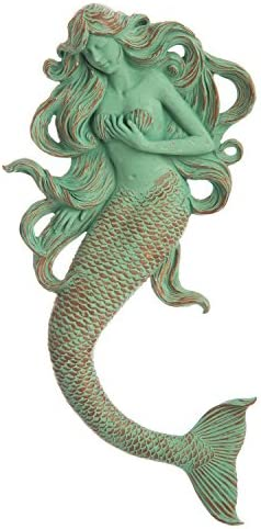 Cape Craftsmen Verdigris Rapunzel Mermaid Resin Wall D cor