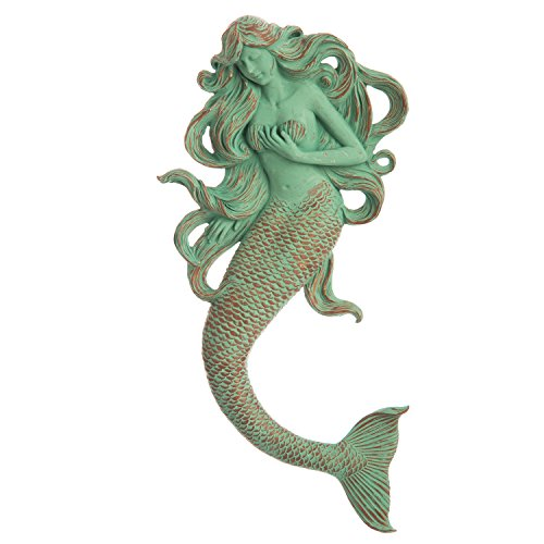 Cape Craftsmen Verdigris Rapunzel Mermaid Resin Wall Décor