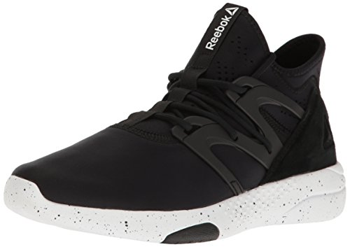 Reebok Women's Hayasu Dance Shoe, Black/White, 6 M US