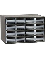 Akro-Mils 19416 16 Drawer Steel Parts Storage Hardware and Craft Cabinet, Grey