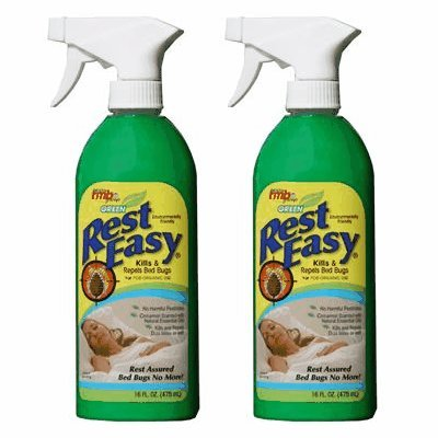 Green Rest Easy Bed Bug Spray, 16 oz. Spray Bottle (2-PACK)