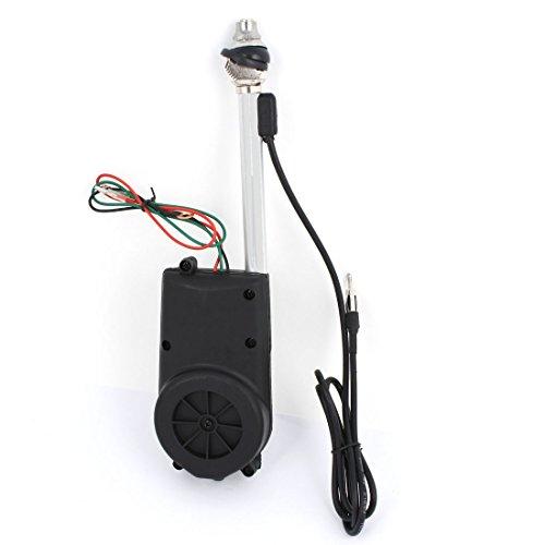 uxcell DC 12V Universal AM FM Radio Electric Automatic Antenna Black BF-686