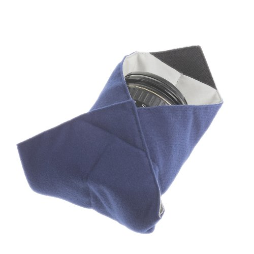 Tenba Messenger 10in Portable Protective Wrap for Lenses, Flashes, Camera Bodies and Electronics - Navy Blue - Lens Wrap