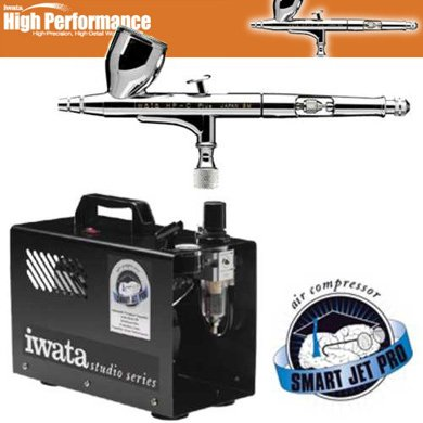 - Iwata High Performance Plus HP-C Plus Airbrushing System with Smart Jet Pro Air Compressor