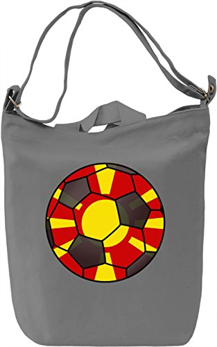 Macedonia Football Borsa Giornaliera Canvas Canvas Day Bag| 100% Premium Cotton Canvas| DTG Printing|