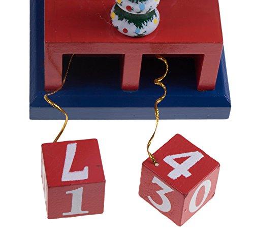 [해외]선물과 카운트 다운 Advent 스탠드 - 15 높이와 나무 호두 까 기 인형 킹/Wooden Nutcracker King with Gifts and Countdown Advent Stand - 15  Tall