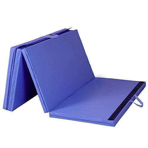 Heaven Tvcz Mat Gym Thick Folding Panel Blue 4'x8'x2 Fitness Exercise Yoga Mat Gymnastics New Tumbling Stretching For Teaching Basic